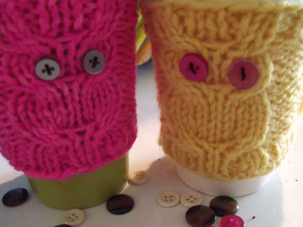 Knitting Patterns Galore Owl Coffee Cozy