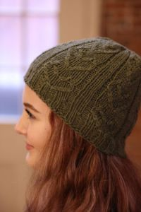 Quaker Hill Cable &Rib Heart Hat