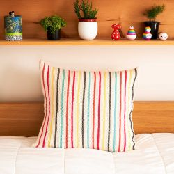 Garter Stripe Pillow