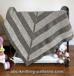 Square Brioche Blanket or Lapghan