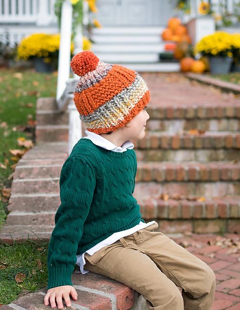 Knitting Patterns Galore - Straight Needle Kids Hat