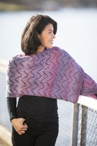 Chevron Eyelet Prayer Shawl