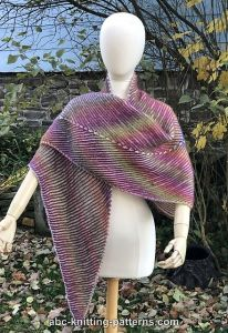 Sunshine Arrow Brioche Shawl