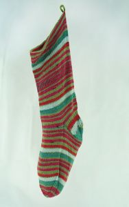 Self-Striping Christmas Stocking