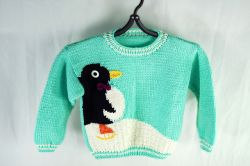 Skating Penguin Pullover