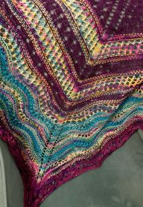Hyacinth & Heather Shawl