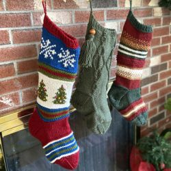 Berroco Blitzen, Dasher & Comet Stockings