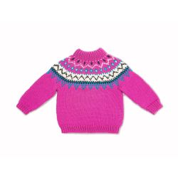 Bernat Family Knit Child Yoke Sweater