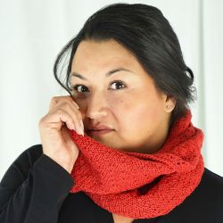 Chevrons Double Wrap Cowl