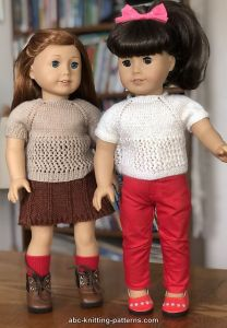 American Girl Doll Short Sleeve Lace Top