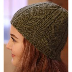 Quaker Hill Cable & Rib Heart Hat