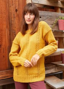 Lace Columns Pullover