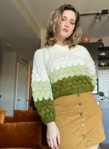 Tricolor Bubble Sweater