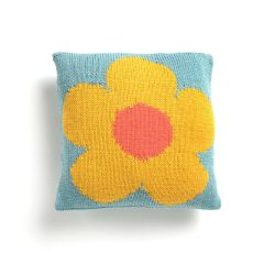 Intarsia Mod Flower Pillow