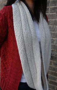 Garter Stitch Eternity Scarf