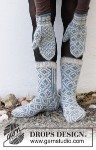 Fjord Mosaic Mittens and Socks