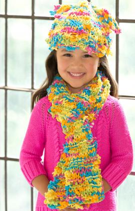 Knitting Patterns Galore Funky Fun Hat Scarf