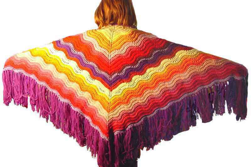 Knitting Patterns Galore Feather And Fan Comfort Shawl
