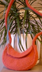 Retro Wedge Felted Bag