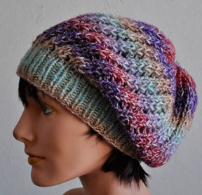 Knitting Patterns Galore - Treasure Slouch Hat