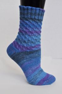 Toe-Up Twist Socks