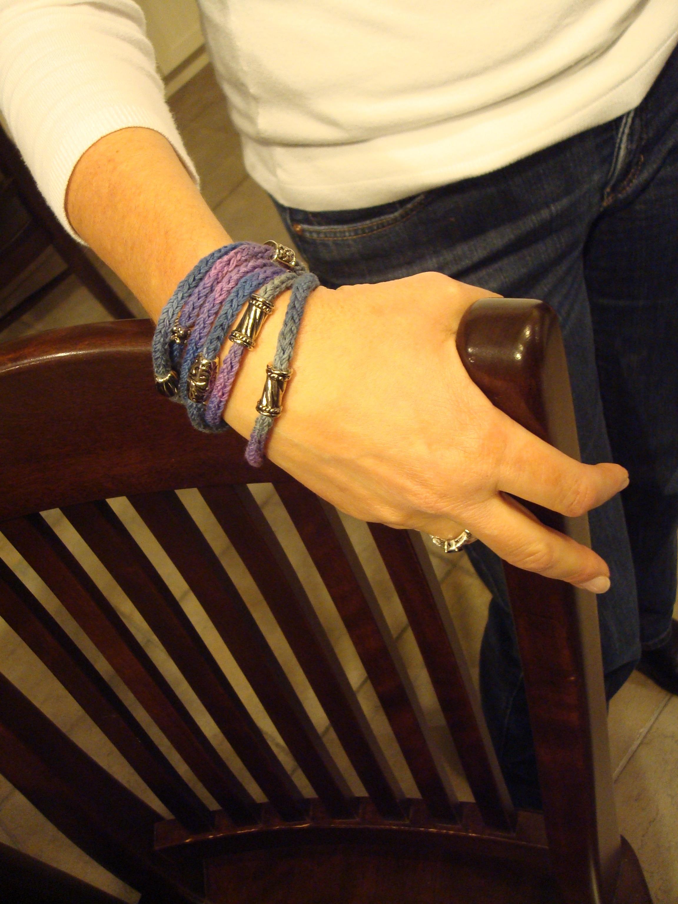 Knitting Patterns Galore Wrap It Around Bracelet