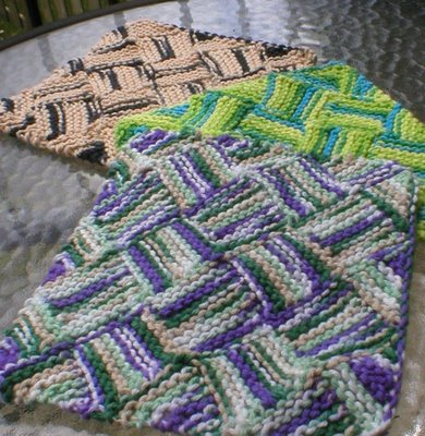 Knitting Patterns Galore Garterlac Dishcloth