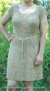 Summer Dress with Round Yoke