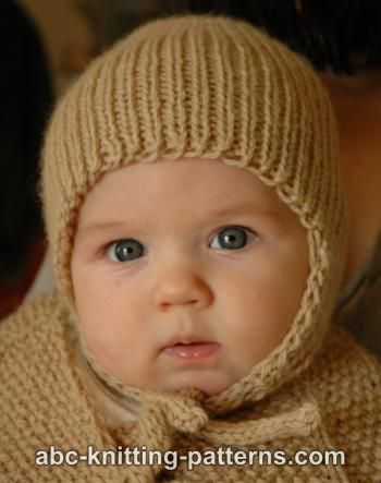Knitting Patterns Galore Ribbed Baby Earflap Hat