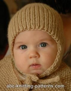 Ribbed Baby Earflap Hat