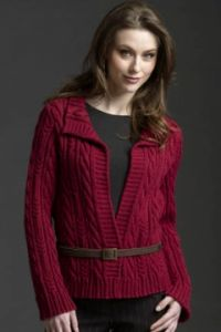 Allover Cable Cardigan