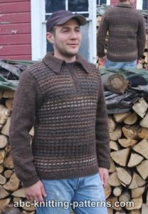 Noro Yarn Men's Zipper Sweater