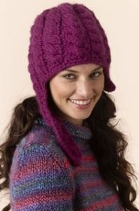 Baby Cabled Hat with Chin Strap