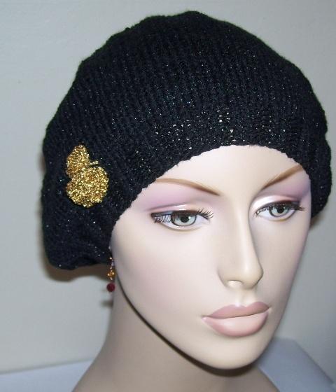 Knitting Patterns Galore Glitterspun Slouch Hat