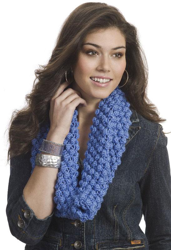 Knitting Patterns Galore Bobble Blackberry Cowl