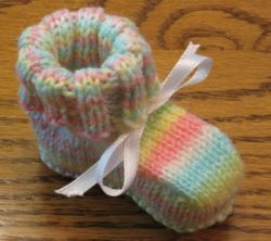 Seamless Baby Booties