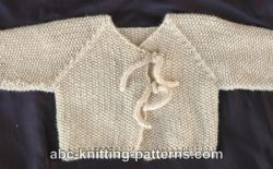 Easy Seamless Baby Cardigan with I-Cord Ties