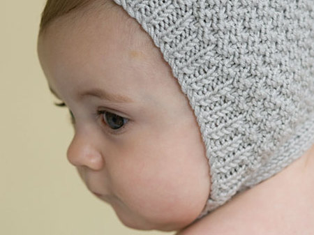 Knitting Patterns Galore - Modern Baby Bonnet