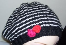 Stripey Slouchy Beret