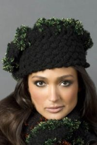 Basketweave Beret