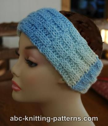 Knitting Patterns Galore - Broken Rib Headband