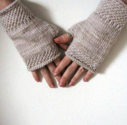 Knitting Patterns Galore Honeycomb Wrist Warmers Knit