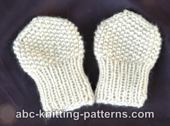 Knitting Patterns Galore - Seed Stitch Baby Mittens