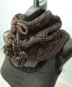Drawstring Lace Cowl