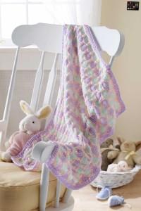 Knitting Pattern For Stroller Blanket : Knitting Patterns Galore - Honeycomb Stroller Blanket