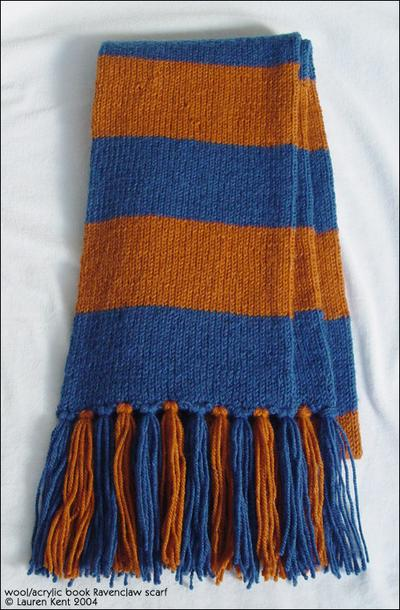 Knit Striped Scarf Pattern : Knitting Patterns Galore - Hogwarts Scarf
