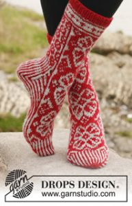 Winter Rose Socks