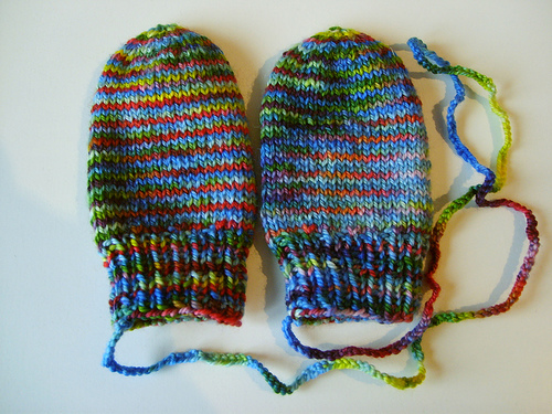 Knitting Pattern For Toddler Mittens With Thumbs : Knitting Patterns Galore - Baby Mittens