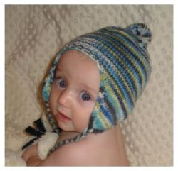 Knitting Pattern For Toddler Hat With Earflaps : Knitting Patterns Galore - Free Babee Chullo (Baby Earflap Hat)