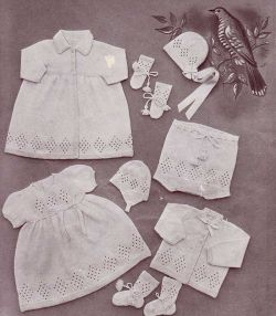 Knitting Patterns Galore Baby : Knitting Patterns Galore - Lullaby Baby Layette